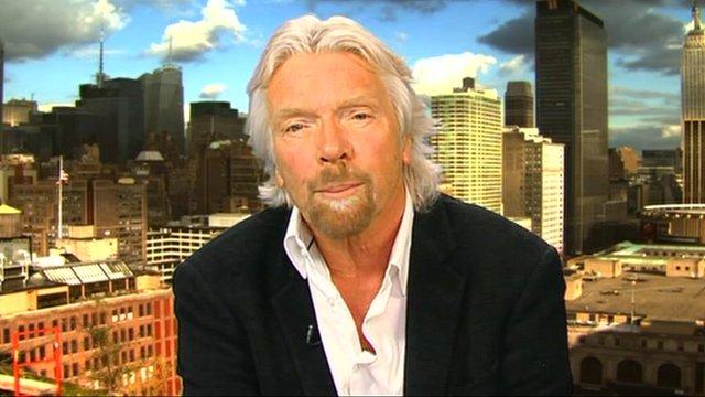 Virgin group boss Sir Richard Branson