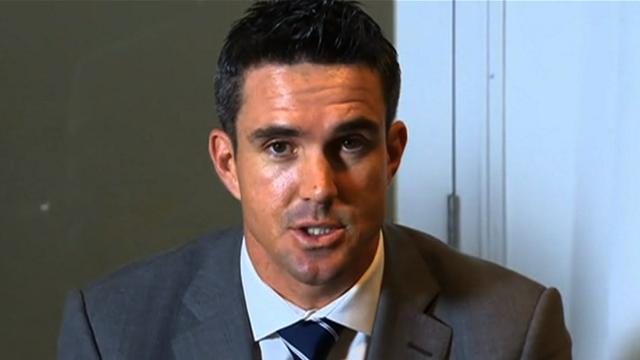 England batsmen Kevin Pietersen