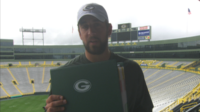 Green Bay Packer's Aaron Rodgers