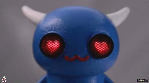 Toy with eyes that show different shapes