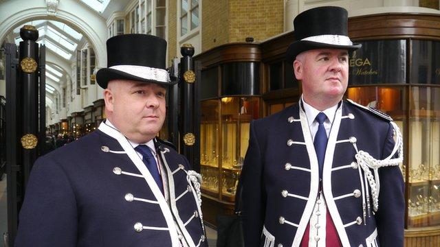 The Beadles of the Burlington Arcade