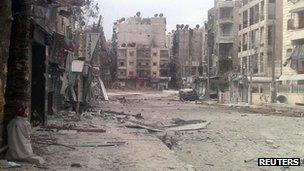 Damage in Aleppo, 2 October 2012