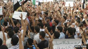 Protests in the Syrian city of Houla, 5 Oct 2012