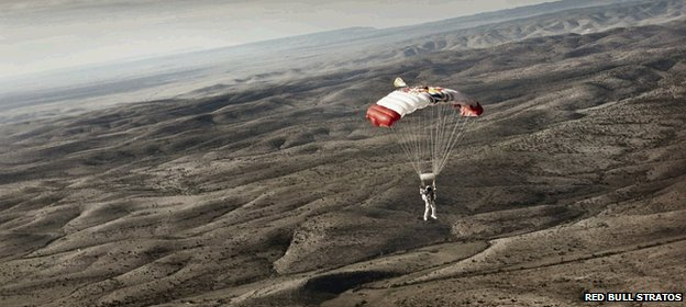 Making the second test jump from 97,000ft