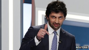 Kakha Kaladze attends an election debate in Tbilisi, 18 September