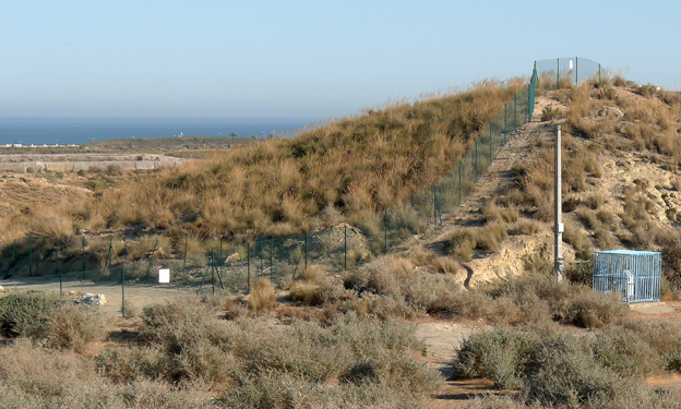 Palomares fenced-off area in 2007