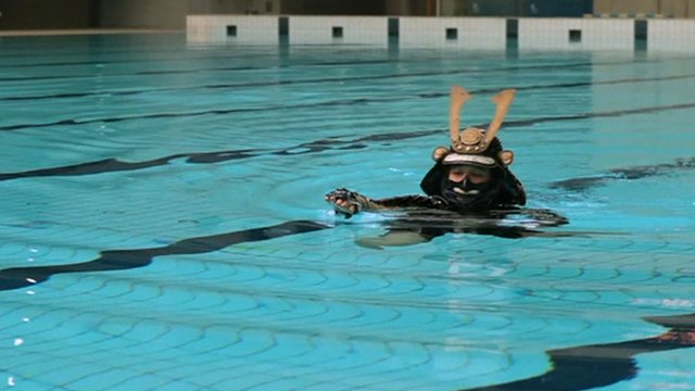 Samurai is expected to be able to swim wearing armour