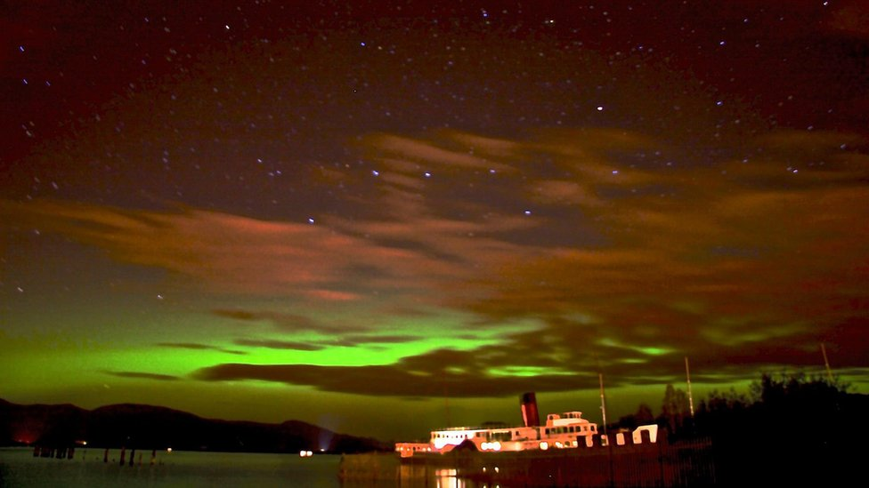 Bbc News In Pictures Northern Lights Over Scotland