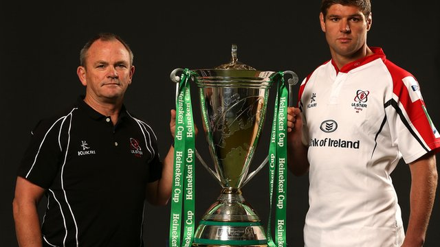 Mark Anscombe and Johann Muller with the Heineken Cup