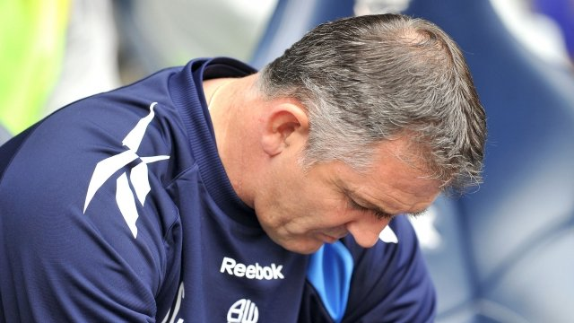 Sacked Bolton Wanderers manager Owen Coyle