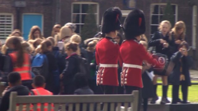 Children at the Tower of London