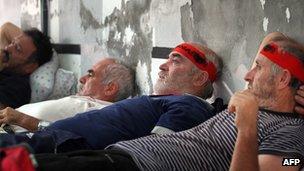 Albanian hunger strikers, 8 Oct 12