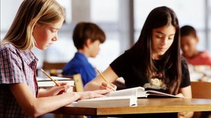 School Children Studying