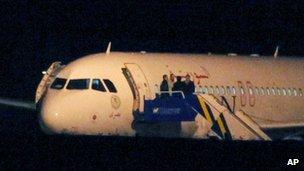 Syrian Air plane at Ankara airport, Turkey (10 Oct 2012)