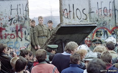 Fall of the Berlin Wall in 1989