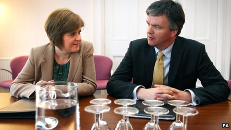 Nicola Sturgeon and Michael Moore