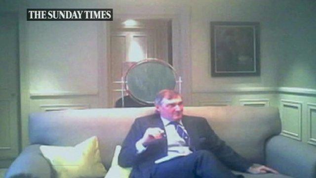 Still from Sunday Times footage of Adm Sir Trevor Soar