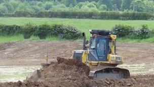 Work starts on the new ground off Moor Lane, Hawarden