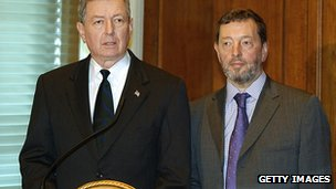 David Blunkett and John Ashcroft in 2003