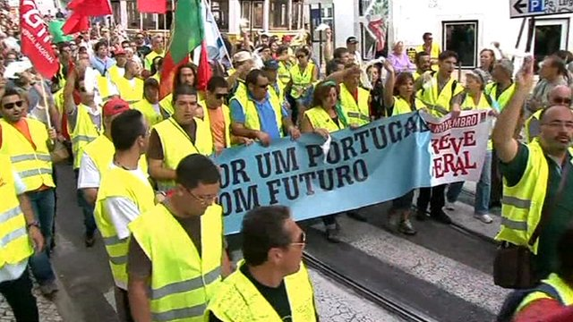 Protest march in Portugal