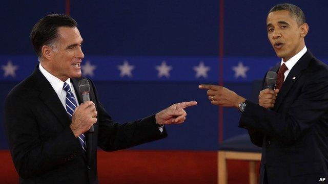 Mitt Romney and Barack Obama