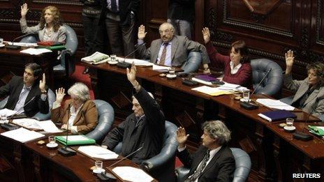 Uruguayan senators vote on abortion proposal