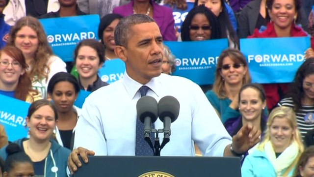 President Obama in Fairfax, Virginia