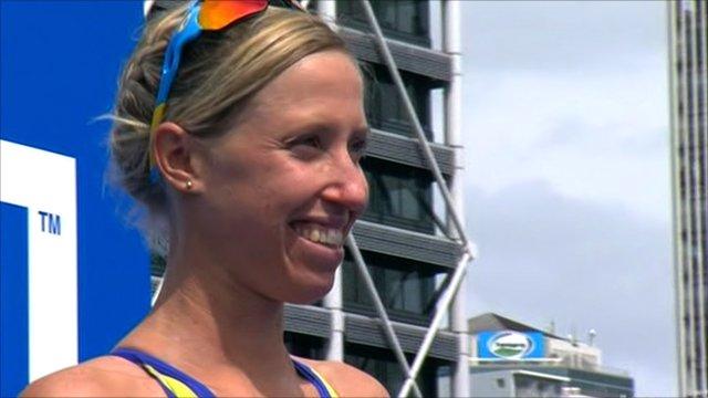 Swedish triathlete Lisa Norden