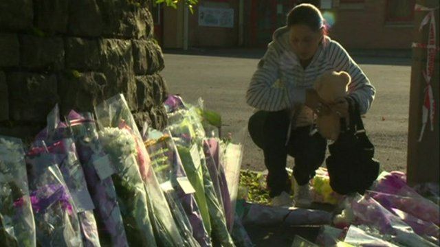 Flowers have been left for the victims of the Cardiff hit-and-runs