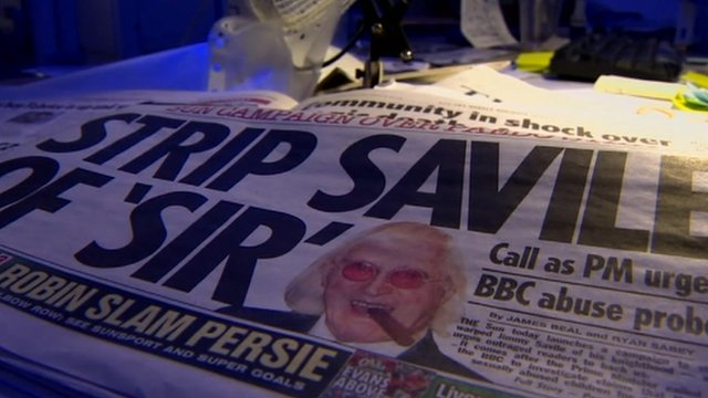 Jimmy Savile newspaper headlines