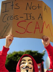 An Occupy protestor in Los Angeles
