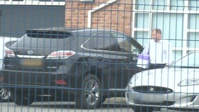 Paul Jewell leaving Ipswich Town's training ground