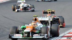 Force India-Mercedes F1 car