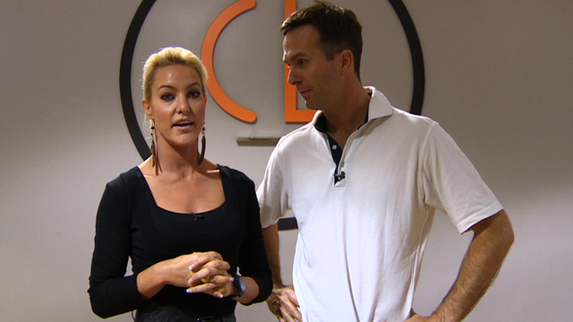 Strictly Come Dancing stars Natalie Lowe and Michael Vaughan