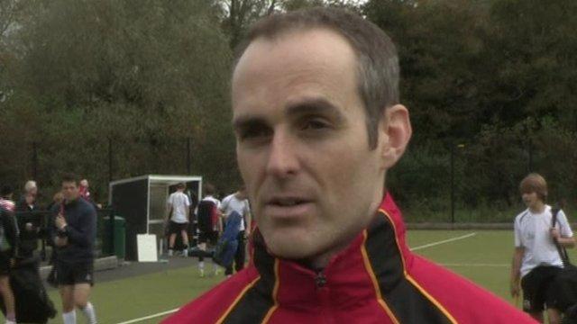 Banbridge Academy coach Steven Dawson