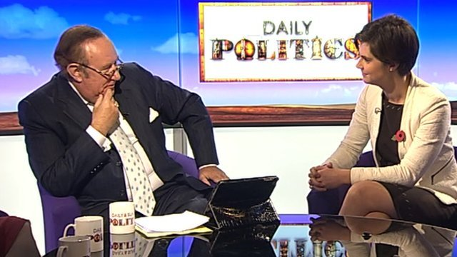 Andrew Neil and Chloe Smith