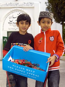 Children with poppies