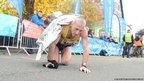 Runner finishes the Snowdonia Marathon