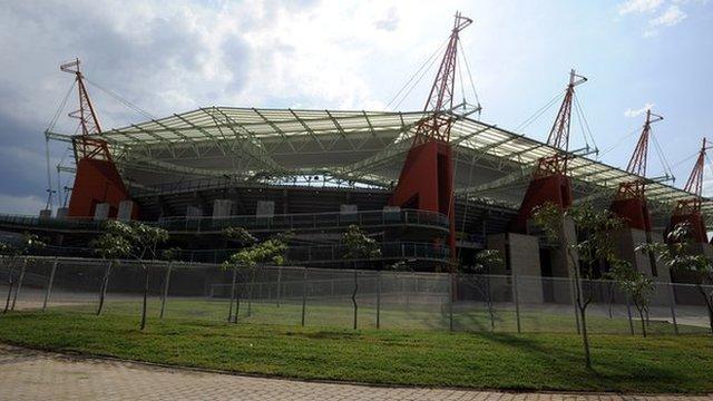 The Mbombela stadium in Nelspruit