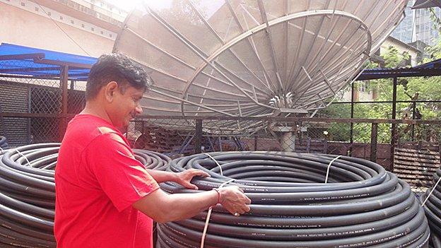 Installing a satellite dish