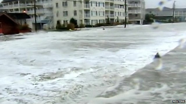 Floods hit areas near Atlanta City, New Jersey