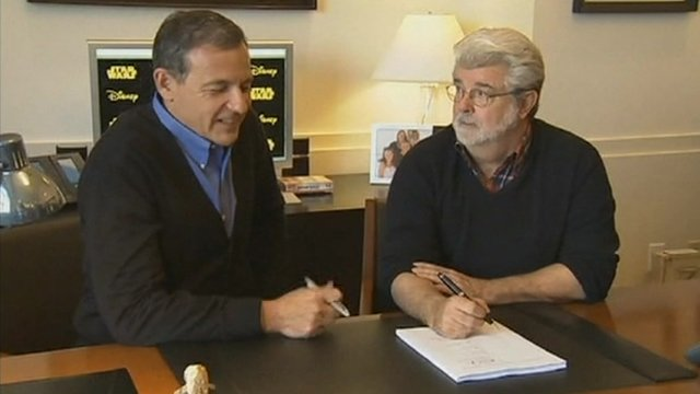 Disney's Robert Iger with George Lucas