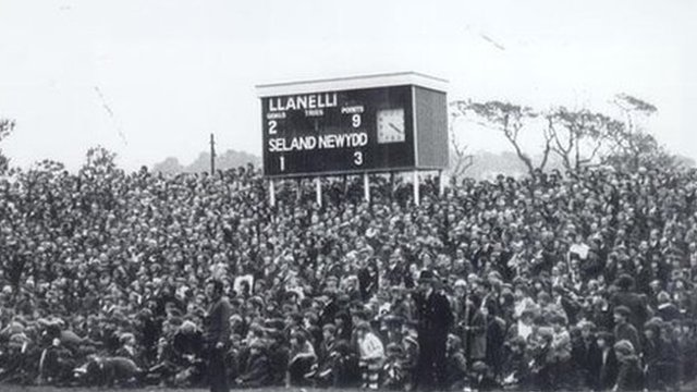 Stradey Park on the day of the match