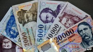 Hungarian forints - file pic