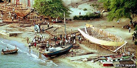 Boat building in Haiti in 1993