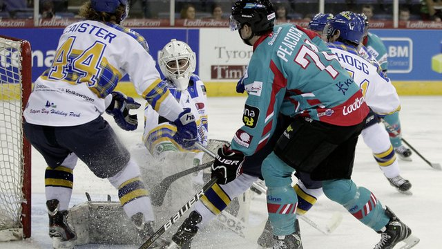 The Belfast Giants beat the Fife Flyers 5-1