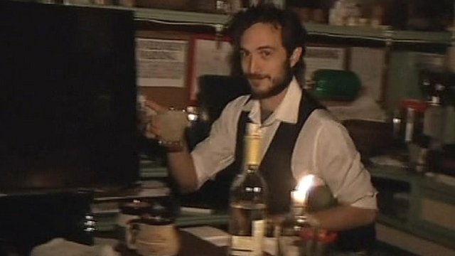 Barman in restaurant