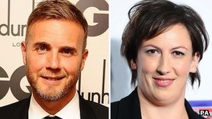 Gary Barlow and Miranda Hart