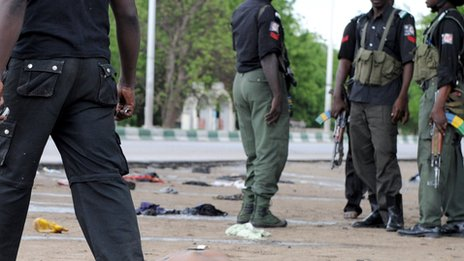 Members of the security forces in Maiduguri, Nigeria, in 2009
