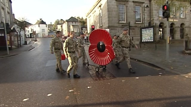 The poppy being pushed throughout Cornwall